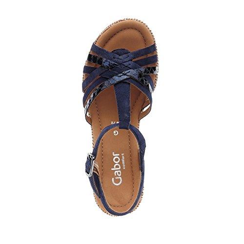 Azul Sandalias Descubierta Punta Gabor Comfort Mujer De wYqaaZ