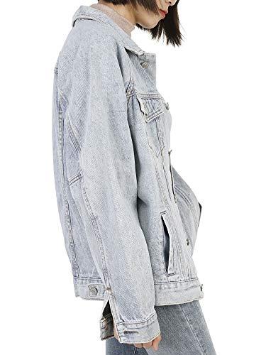 Jeans Chiaro Cappotto 54 Blu Donna Di Giacca 38 Denim Oversize Dylh Jacket tn6qTR4ww