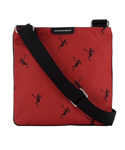 Alexander Mcqueen Bag - Alexander Mcqueen Men's 4971759Nb1n6278 Red Fabric Messenger Bag
