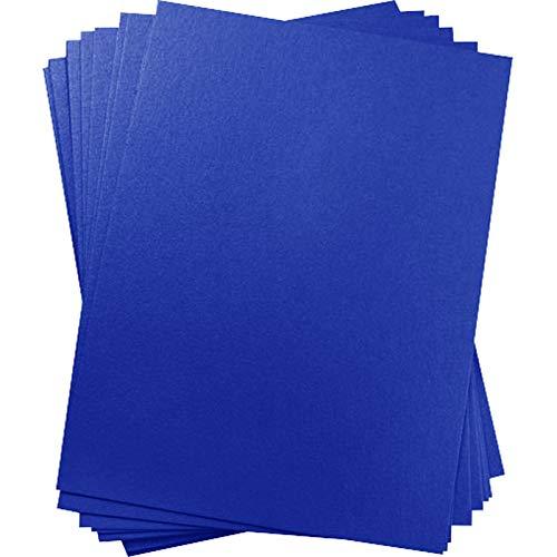 A1 Curious Metallics Electric Blue Blank Cards - Flat, 111lb Cover, 25 - Paper Curious Cardstock Metallic