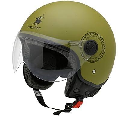 Amazon.es: Rodeo Drive - Casco de moto RD104plus, verde ...