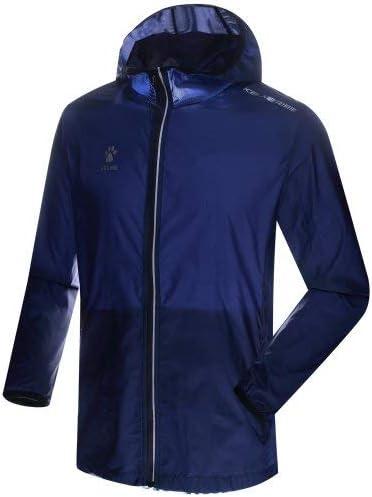 4XL Hombre KELME Skin Coat Chubasquero Royal Blue