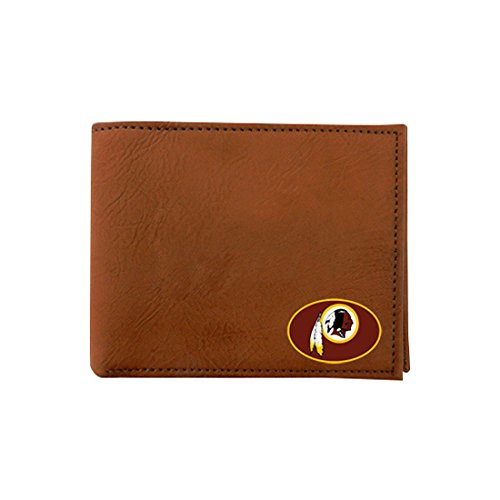 NFL Washington Redskins Classic Football Wallet, One Size, Brown by GameWear