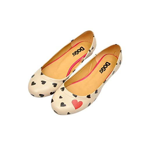 Dogo Women's 9 Eu Heartily 39Beige Shoes Flatsus IEWDH29