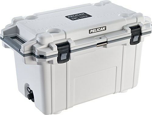 Pelican Elite 70 Quart Cooler (White/Gray)