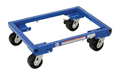 Vestil-ATD-1622-4-Steel-Adjustable-Tote-Dolly-with-4-Casters-2000-lbs-Capacity-Maximum-Usable-34-Length-x-24-Width