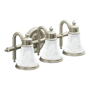 Moen YB9863BN Waterhill Three Globe Bath Light Brushed Nickel