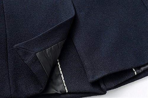 Blau De Gabardina Sólidos Caída Abrigo Chaqueta Adelina La Colores Coat Elegante Invierno OwUSnqPx