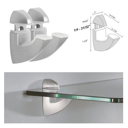 dolle scoop silver adjustable glass shelf brackets pair buy online in uae hi products in. Black Bedroom Furniture Sets. Home Design Ideas