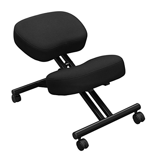 Ergonomic Kneeling Chair for Support, Office or Home – Ultra Soft Cushions, Sturdy Metal Rolling (Knee Tilt Chair)