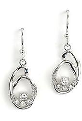 Jody Coyote Earrings Geode Collection GEO-0113-12 CZ Cubic Zirconia Silver