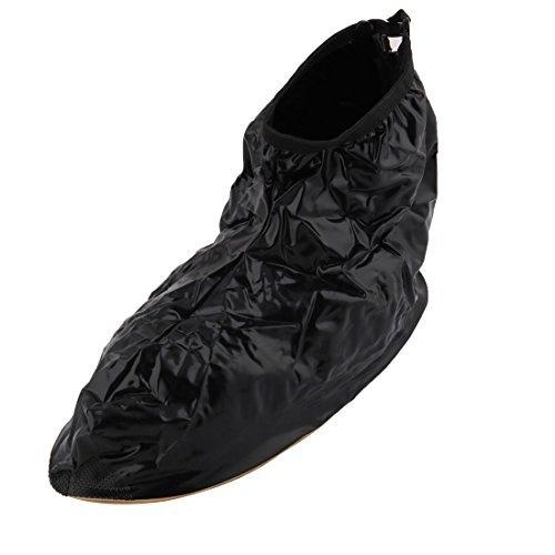 eDealMax Anti-Slip Zippered l'eau de pluie rsistant Bottes de Vitesse Couvre-Chaussures de Neige Paire