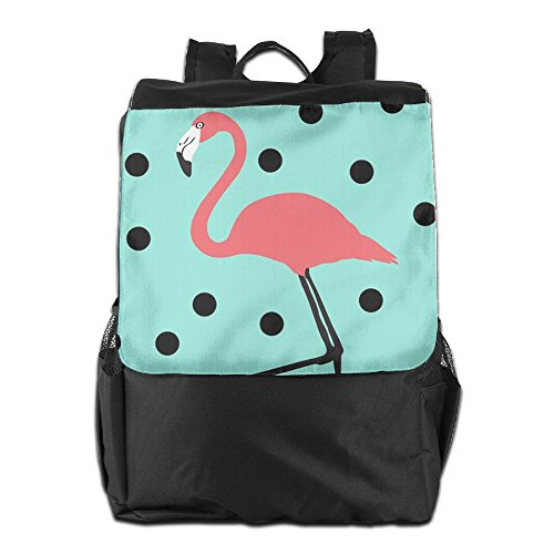 HSVCUY Personalized Outdoors Backpack,Travel/Camping/School-Pink Flamingo Art Adjustable Shoulder Strap Storage Dayback For Women And Men