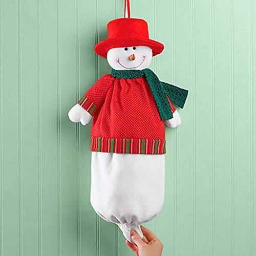 (Pendant & Drop Ornaments - Christmas Snowman Garbage Bag Santa Claus Xmas Party Decor Storage Decoration - Decor Box Aquarium Halloween Winter Glass & Ornaments Year Christmas Paper Home)