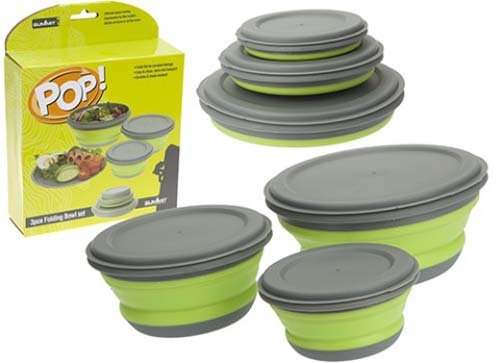 Summit Easy Use 'POP' 3 Piece Bowl Set Easy Clean & Transport