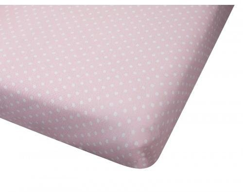 Big Oshi Jersey Knit 100% Cotton Fitted Crib Sheet, Polka Do
