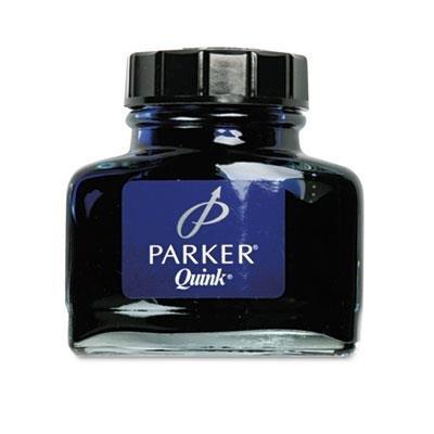Parker Quink 2-oz Ink Bottle for Fountain Pens, Blue-Black Ink, 1 Bottle (3007100)
