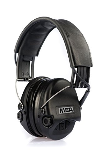 MSA Sordin Supreme Pro SOR75302-02-G - Electronic Earmuff with leather band, black cups and gel seals fitted, Active Eardefenders ()