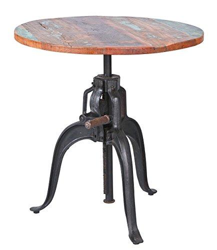 Metallfuß Tisch Rund.Inter Link 85300460 Esszimmertisch Esstisch Küchentisch 75 Cm Rund Mango Metall Tisch Design Shabby