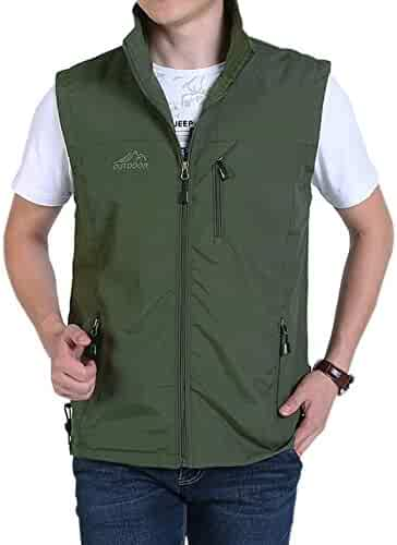 Real Spark Mens Outdoor Leisure Fish Photography Vest Cotton Reversible Sport Jacket
