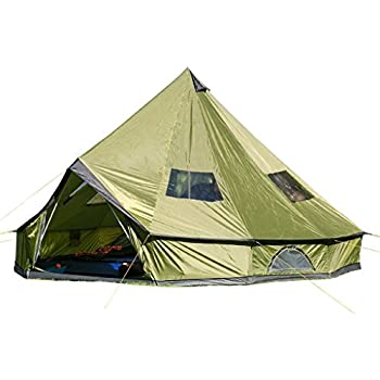 Hasika 4-Season 10 Persons Waterproof Large Family Tent Hunting C& Tent HUGE Teepee Tents For SaleSize 5M/16.4ft  sc 1 st  Amazon.com & Amazon.com : Guide Gear Teepee Tent 18u0027 x 18u0027 : Family Tents ...
