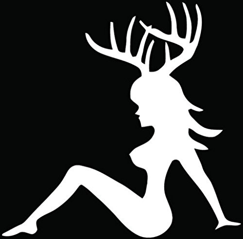 Hunting Sexy Girl Deer Buck Decal | Car Truck Wall Computer Laptop Phone | 5.5 In Decal | CCI235