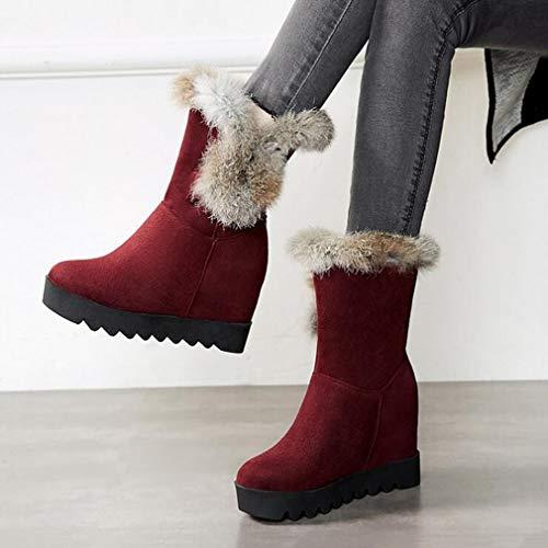 Caviglia Donna Sci tacco donna Stivaletti neve invernale Stivali donna Martins scamosciati per polpaccio all'aperto da caldi da alto Scarpe Stivaletti Yh mezzo AxxRnw6zqZ