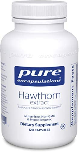 Pure Encapsulations - Hawthorn Extract - Crataegus Oxyacantha Hypoallergenic Supplement for Cardiovascular System Support - 120 Capsules