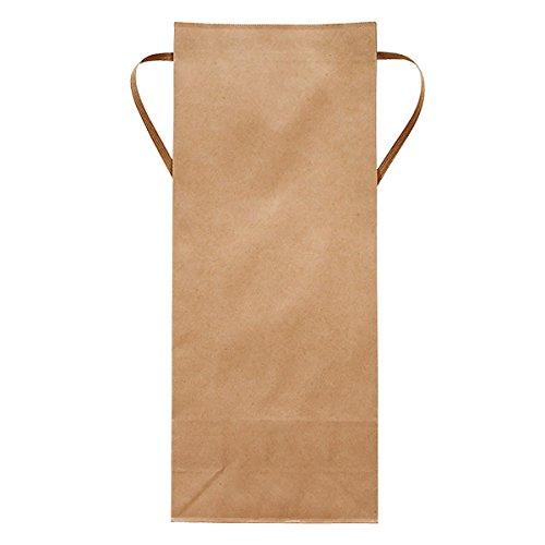 マルタカ クラフトSP 保湿タイプ 無地 窓なし 角底 2kg用紐付 1ケース(300枚入) KHP-831 B077GK52F6 2kg用米袋 1ケース(300枚入)
