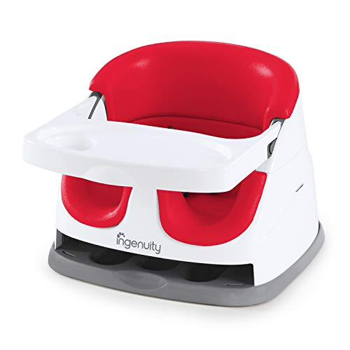 Ingenuity Baby Base 2-in-1 Seat – Poppy Red – Booster Feeding Seat