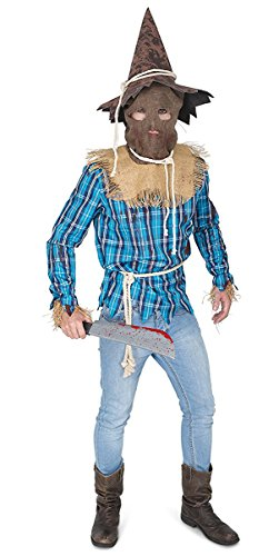 Washing Machine Costume (Men's Evil Scarecrow Costume - Halloween Costume Party Accessory - Large)