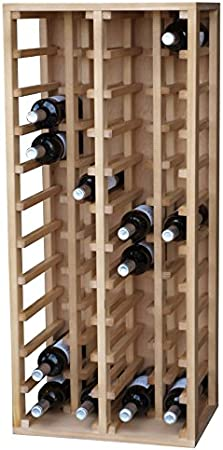 Expovinalia Botellero con Capacidad 40 para Botellas, Madera, Roble, 44x32x105 cm