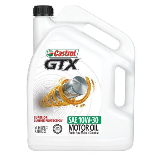 Castrol 03561 GTX 10W-30 Conventional Motor Oil - 5.1 Quart Jug