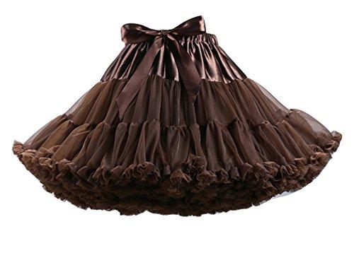 Courte Underskirt Tutu Jupon Femme Ballet Jupes en Petticoat Tutu Vintage Caf Jupe Tulle ZIUIta