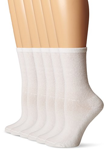 No Nonsense Women's  Everyday Comfort Crew Sock 6-Pack,  ...