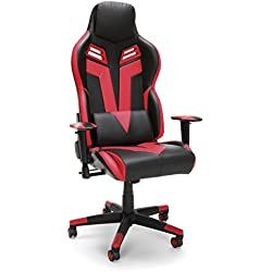RESPAWN-104 Racing Style Gaming Chair - Reclining Ergonomic Leather Chair, Office or Gaming Chair (RSP-104-RED)
