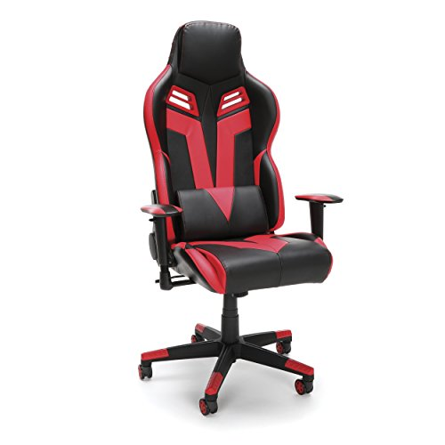 RESPAWN-104 Racing Style Gaming Chair - Reclining Ergonomic Leather Chair, Office or Gaming Chair (RSP-104-RED) OFM Education