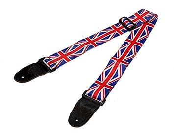 Correa para guitarra bandera de Reino Unido Union Jack para eléctrica acústica Bass Correa Cinturón: Amazon.es: Instrumentos musicales