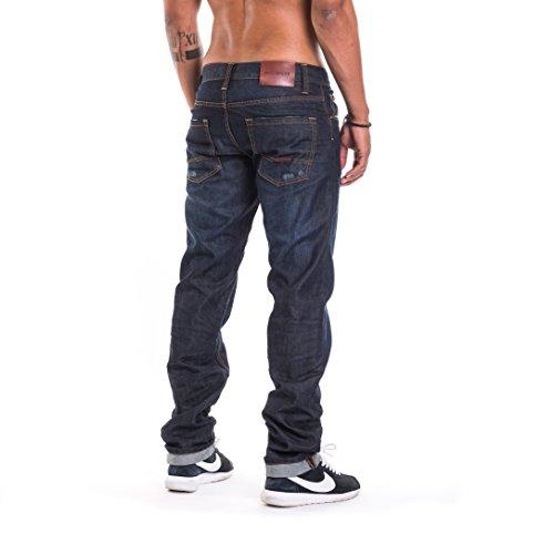 Rocawear Herren Jeans / Straight Fit Jeans Relax blau W 34