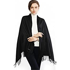 RIIQIICHY Winter Warm Scarf Pashmina Shawl Wrap for Women and Men Long Large Soft Scarves