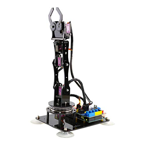 Adeept Arduino Compatible DIY 5-DOF Robotic Arm Kit for Arduino UNO R3 | STEAM Robot Arm Kit with Arduino and Processing Code | with PDF Tutorial via Download Link by Adeept (Image #6)