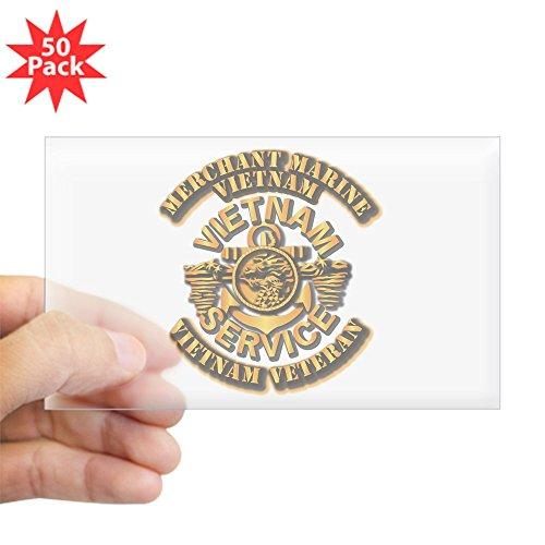CafePress - Usmm - Merchant Marine - Vietnam Vet - 1 Sticker ( - Sticker (Rectangle 50 pk) -