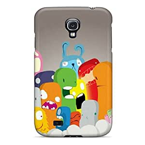 Premium Protection Cute Monsters Case Cover For Galaxy S4- Retail Packaging