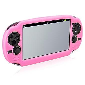 Funda Carcasa De Silicona Para Sony Playstation Vita Rosa ...