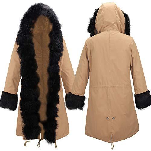 En Femme Coupe Coton Manteau Capuche Trench 1pcs coat D'hiver Deepkhaki Et Veste D'automne Longue Pour À OpOPqI