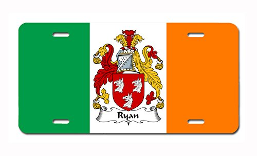 (Carpe Diem Designs Ryan Coat of Arms/Ryan Family Crest (Ireland) License/Vanity Plate - Made in The U.S.A.)