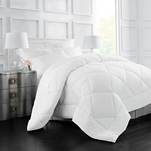Allergen Barrier (Egyptian Luxury Goose Down Alternative Comforter - All Season - 2100 Series Hotel Collection - Luxury Hypoallergenic Comforter - King/Cal King - White)