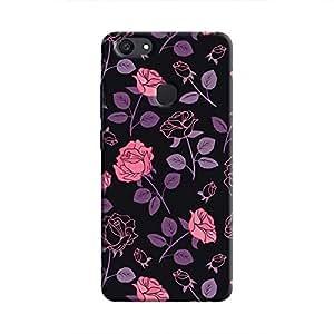 Cover It Up - Roses Print Black V7 Plus Hard Case