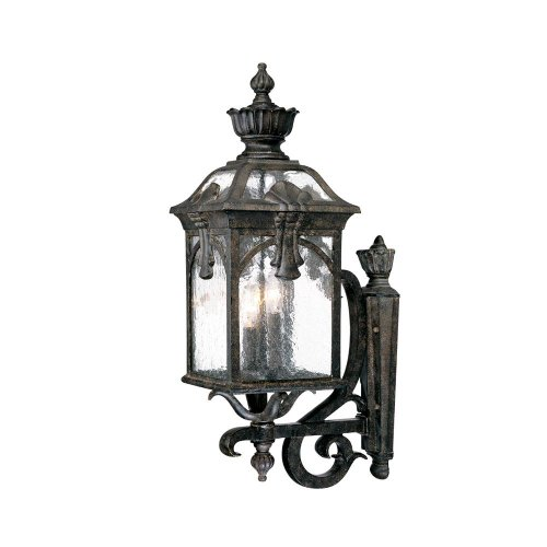 3 Light Belmont Collection - Acclaim 7111BC Belmont Collection 3-Light Wall Mount Outdoor Light Fixture, Black Coral