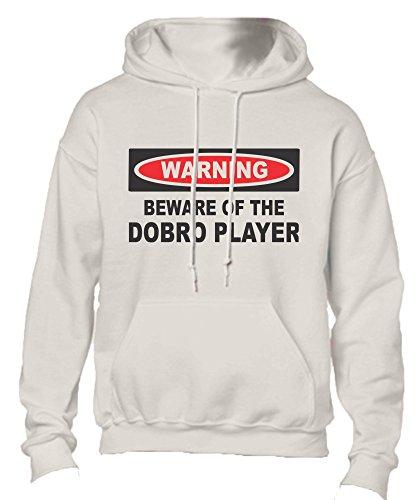 T-ShirtFrenzy Beware Of The Dobro Player Adult Fleece Hoo...
